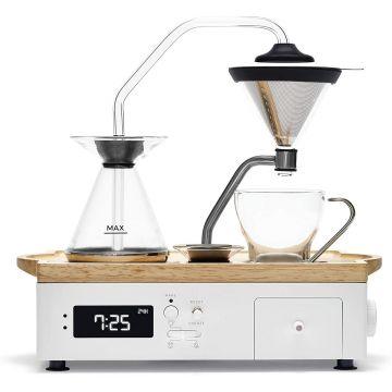 Joy Resolve Barisieur Coffee & Tea Alarm Clock, valkoinen