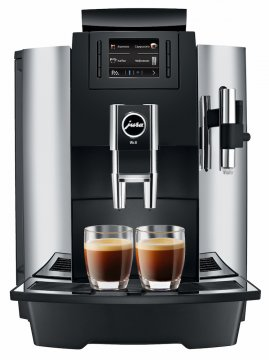 jura we8 chrome fully automatic coffee machine crema. Black Bedroom Furniture Sets. Home Design Ideas