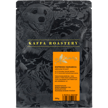Kaffa Roastery Espresso Barabica 250 g kahvipavut
