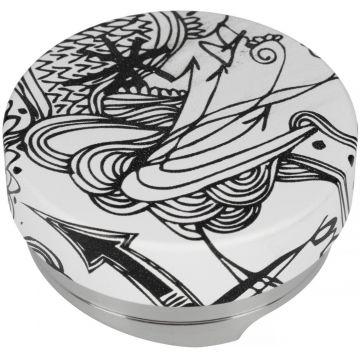 Motta Leveling Tool Black & White kahvitasoittaja, 58,5 mm