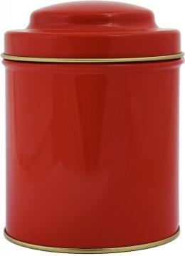 Punainen pyöreä teepurkki 125 g