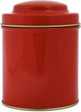 Punainen pyöreä teepurkki 50 g
