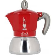 Bialetti Moka Induction Red 4 kupin mutteripannu