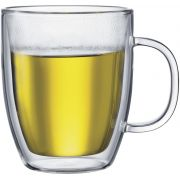 Bodum Bistro Double Walled Glass Mug 450 ml, 2 pcs